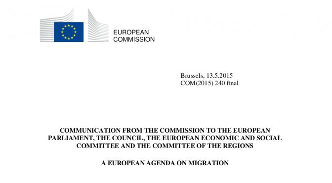 Die Migrationsagenda der Europäischen Union und die Zukunft von Dublin