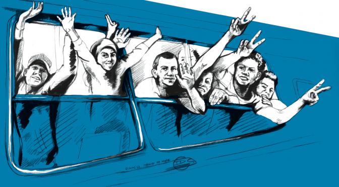 Bundesweite Wanderausstellung: Yallah!? Über die Balkanroute